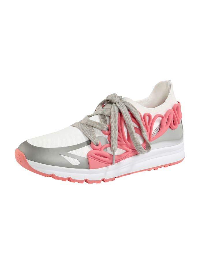 Liva Loop Sneaker met elastisch textiel, Wit