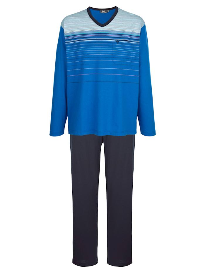 Hajo Pyjama met klimaatvezels, Royal blue