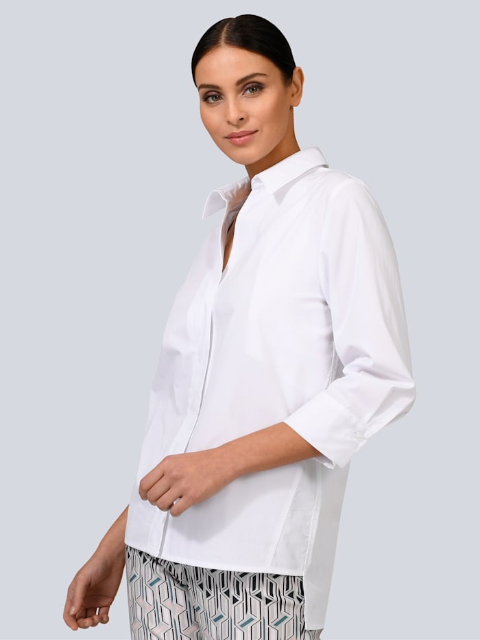 Alba Moda Bluse im Hemdblusen-Style, Weiß