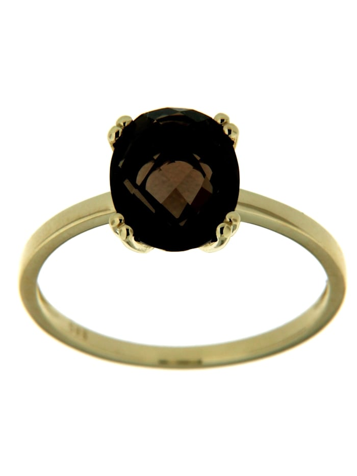 Orolino Ring 585/- Gold Rauchquarz braun Glänzend 585/- Gold, Gelb