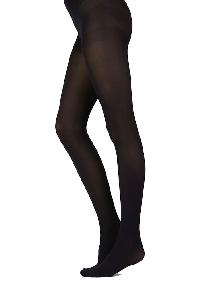 Pretty Polly Basic Opaques 60D Tights with Silk Finish - 2 Paar, Black