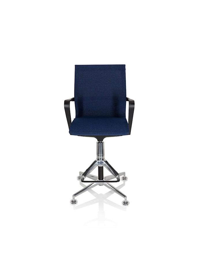 hjh OFFICE Arbeitsstuhl Arbeitshocker TOP WORK 306, Dunkelblau