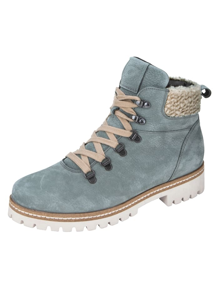 Lace-up ankle boots in hiking style