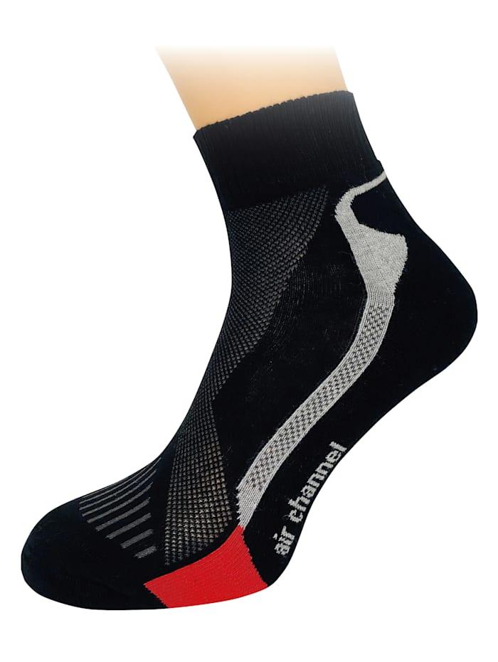 FußGut Klimaatregulerende sokken voor dames en heren, Zwart