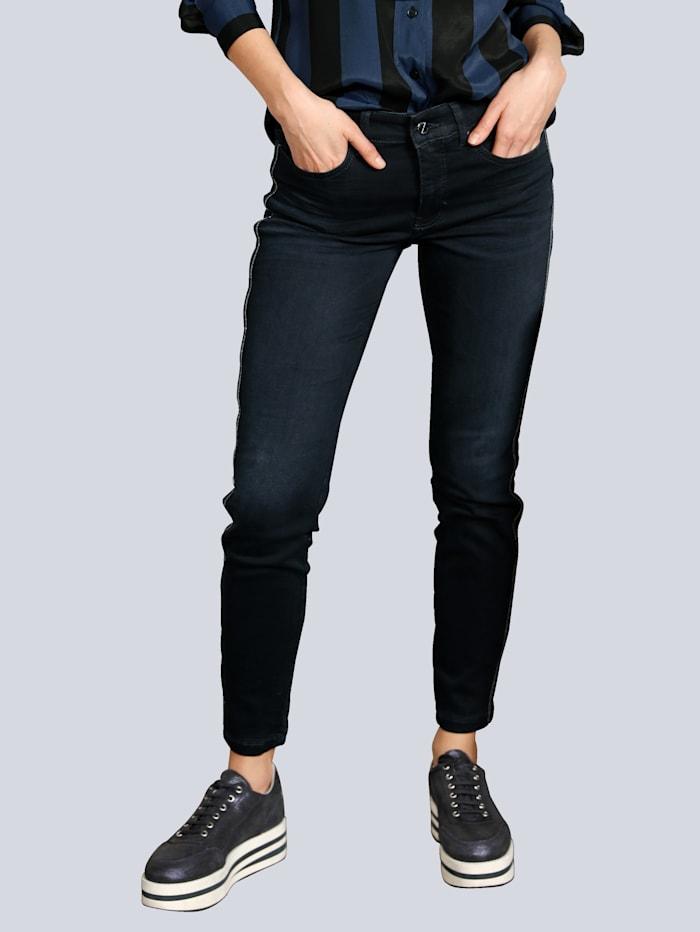MAC Jeans mit Galonstreifen, Dark blue