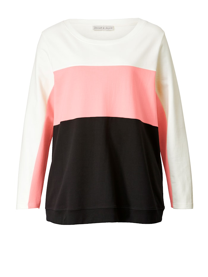 Sweatshirt met color blocking
