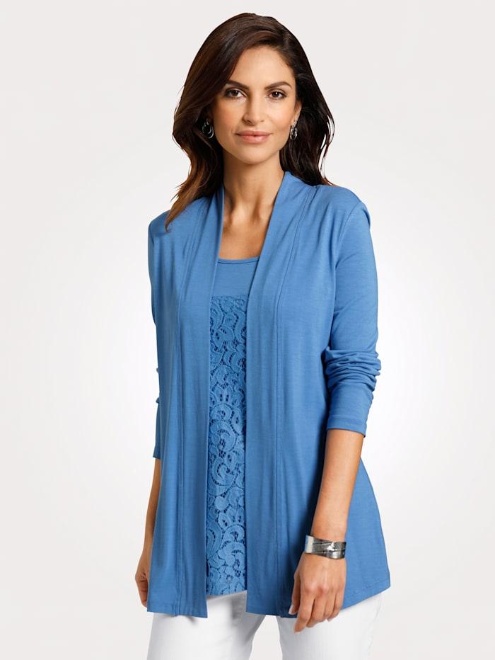 MONA Shirt in 2in1-Optik, Blau