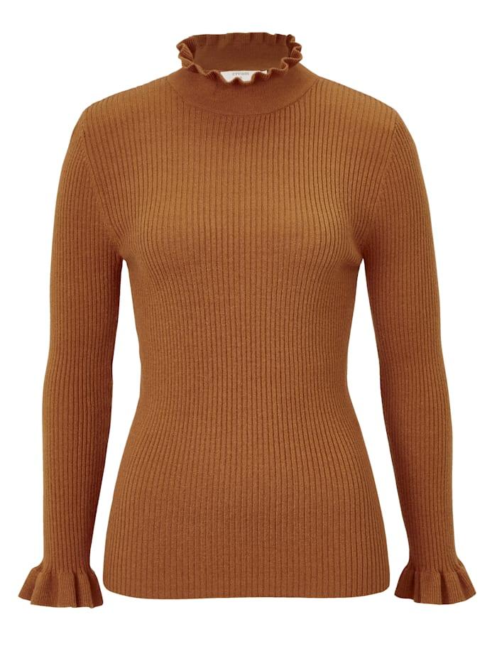 Cream Pullover, Orange