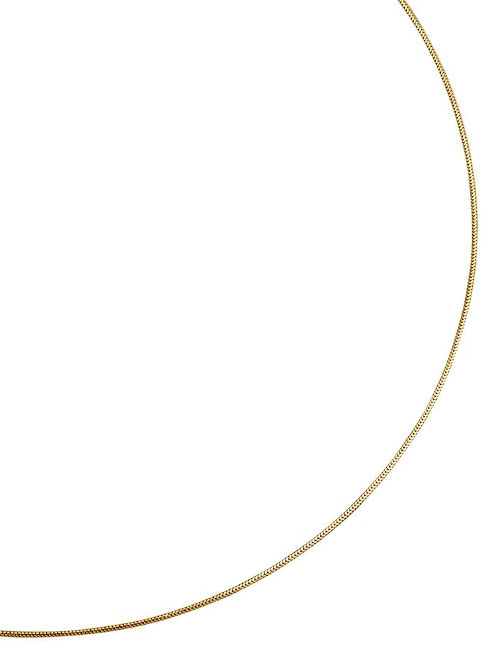 Diemer Gold Schlangenkette massiv, Gelb