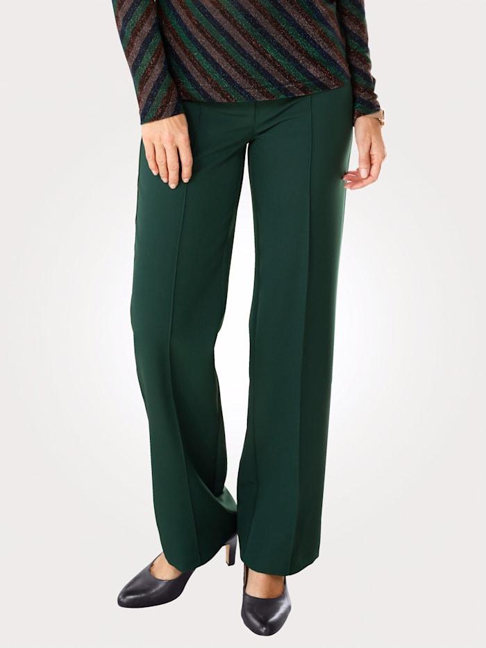 MONA Pantalon en matière bi-extensible, Vert