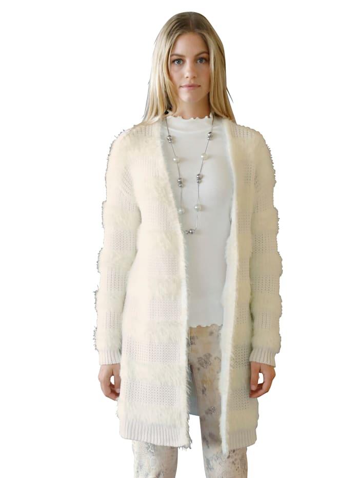AMY VERMONT Vest van zacht materiaal, Offwhite