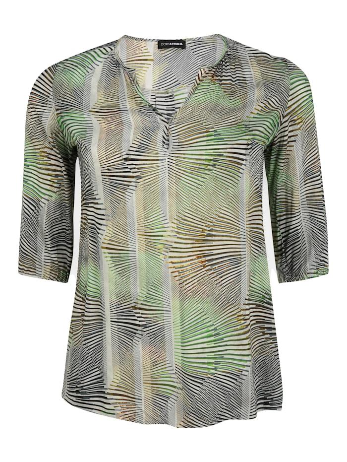Doris Streich Bluse mit Allover-Muster, kiwi