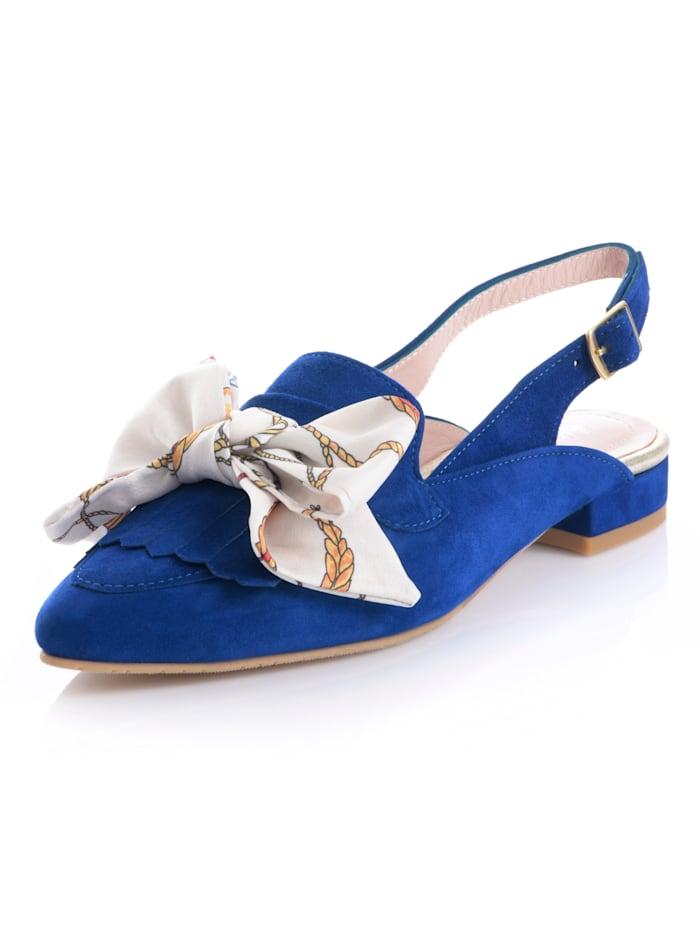Alba Moda Sling met geappliqueerd strikje, Royal blue