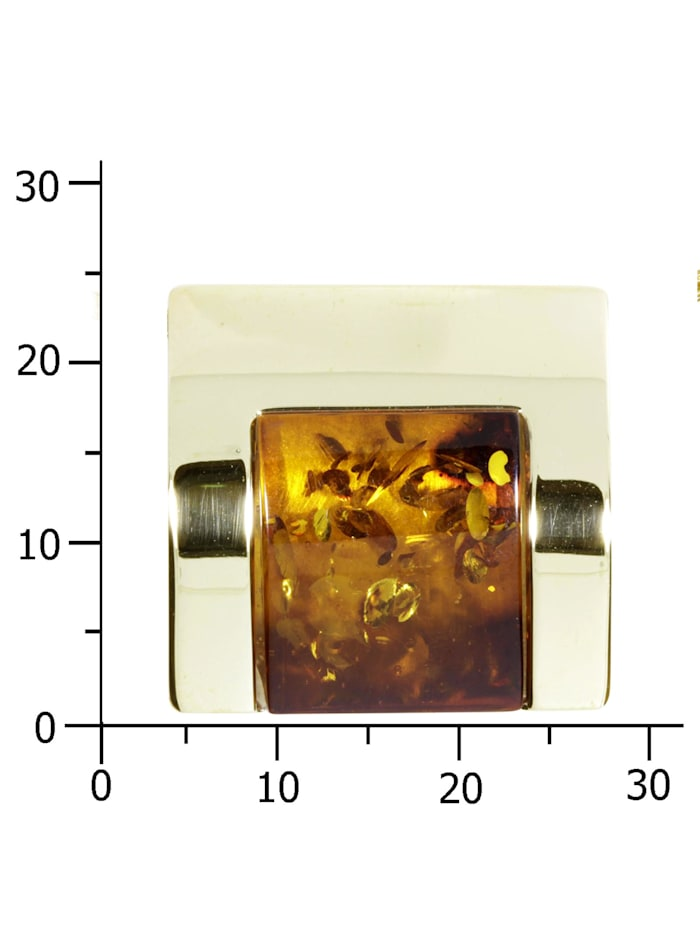 Anhänger - Gleiter-Urte - Gold 333/000 - Bernstein