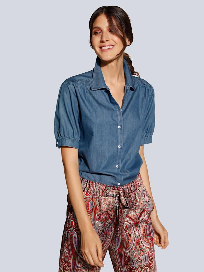 Seidensticker Bluse in Jeans Optik, Blau