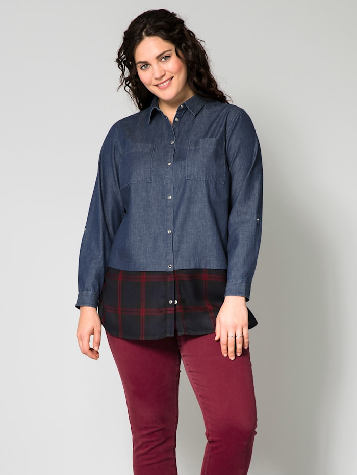 2-in-1-Jeansbluse