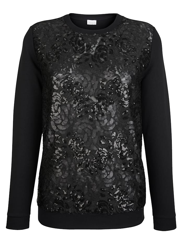 Sweatshirt mit effektvollen Pailletten