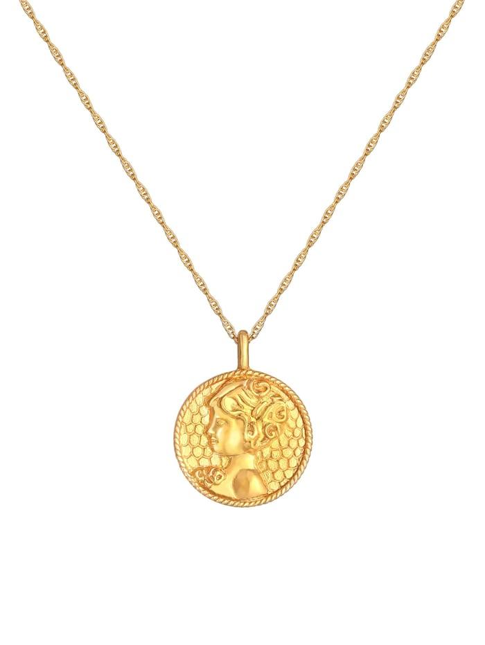 Halskette Sternzeichen Jungfrau Münze 925 Silber