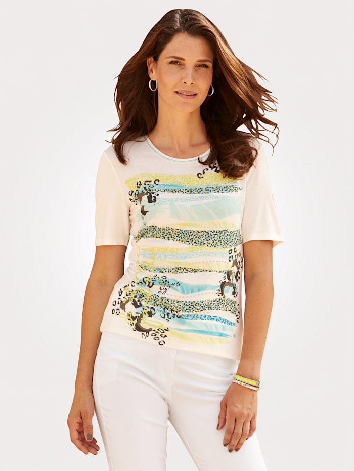 Barbara Lebek Shirt, Wit/Mint
