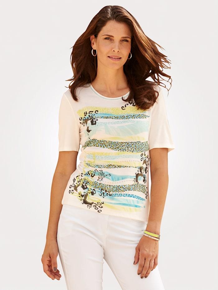 Barbara Lebek T-shirt, Blanc/Menthe
