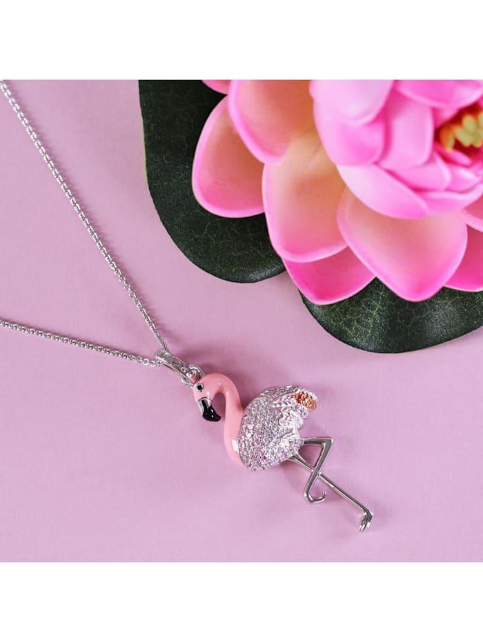 Anhänger Flamingo, Silber 925