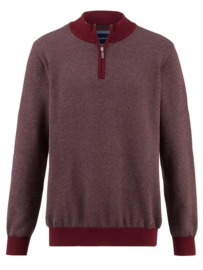 Pullover mit verdecktem Reißverschluss