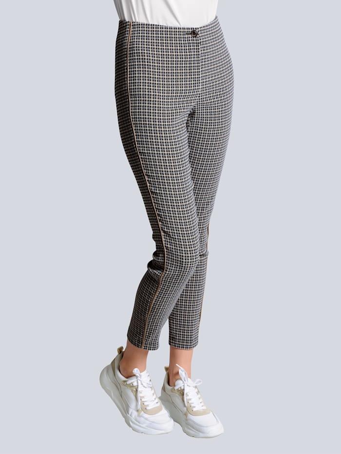 Alba Moda Broek van comfortabel elastisch materiaal, Taupe/Grijs