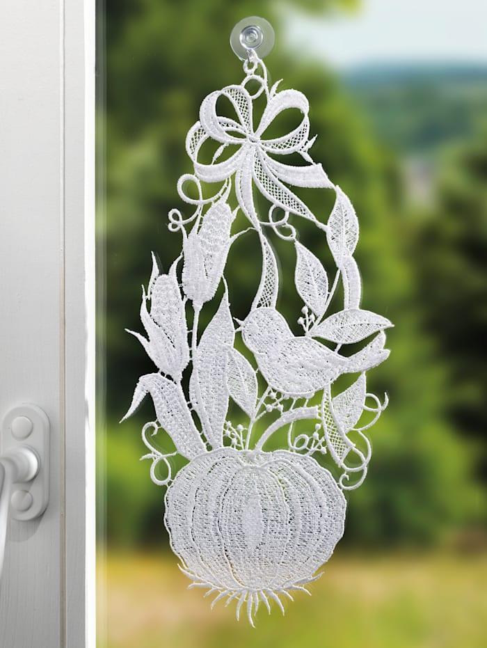 Raebel Fensterbild 'Kürbis', weiß