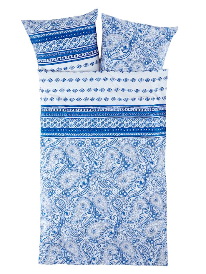 Webschatz Seersucker Bettwäsche 'Jola', blau