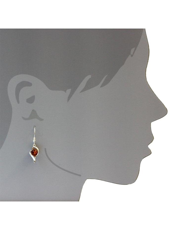 Ohrhänger - Isabella - Silber 925/000 - Bernstein