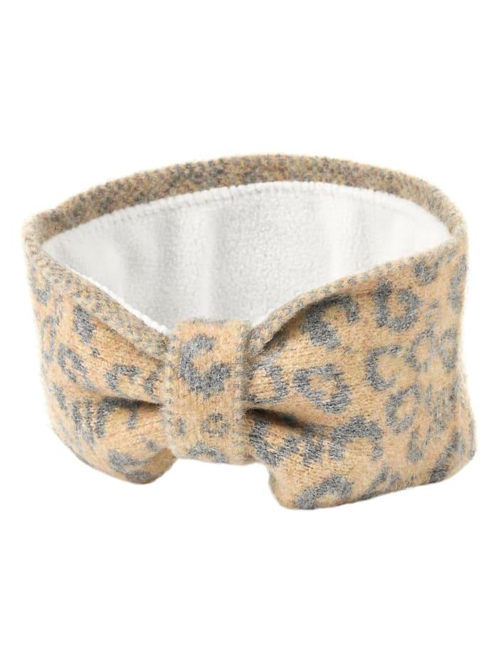 Seeberger Stirnband, gelb-grau