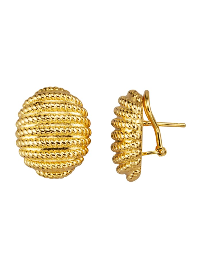 Diemer Gold Clipoorstekers van geelgoud, Geelgoudkleur