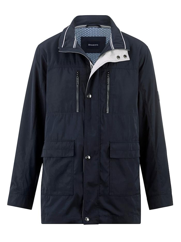 BABISTA Longjacke mit vielen praktischen Taschen, Marineblau