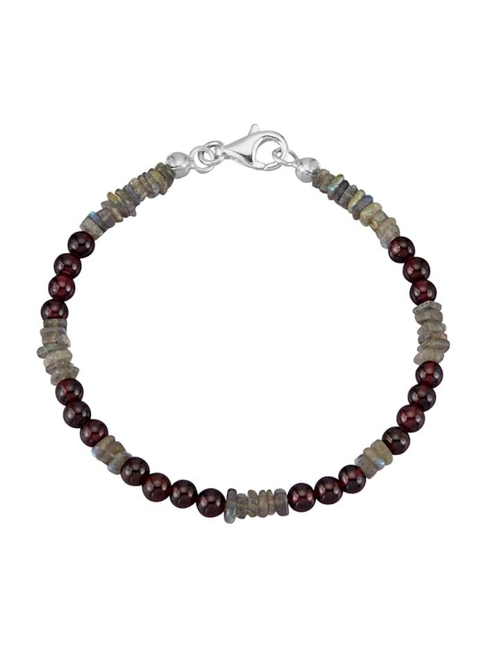 Armband mit Granat-Steinen, Multicolor