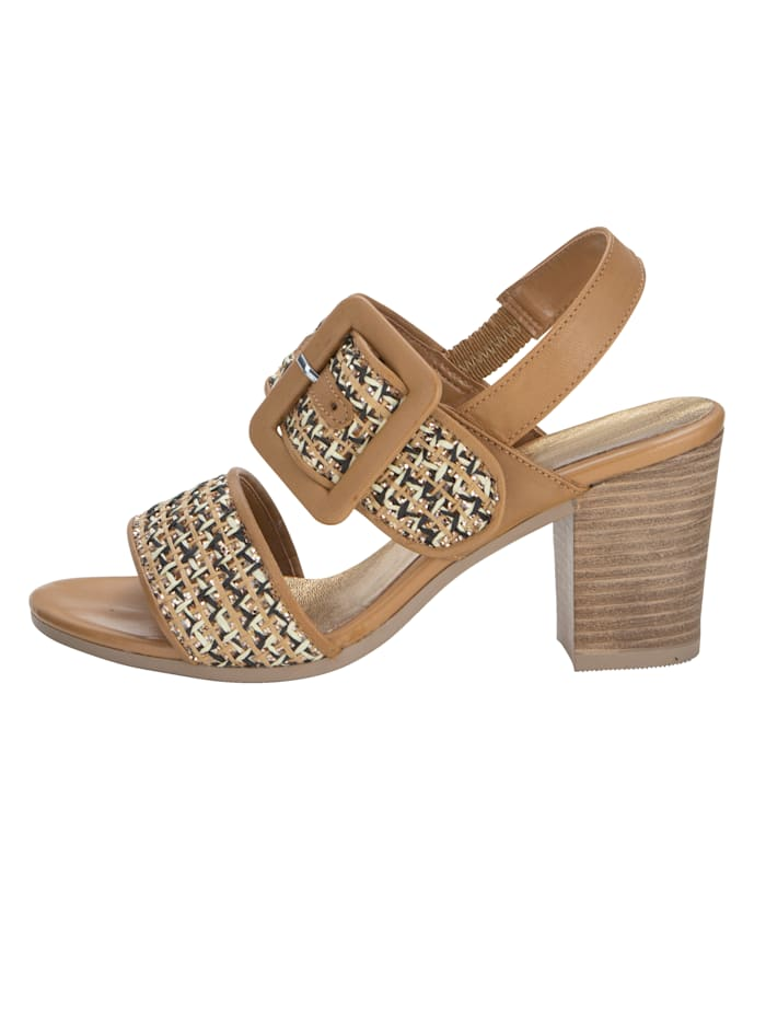 Sandals with a woven upper