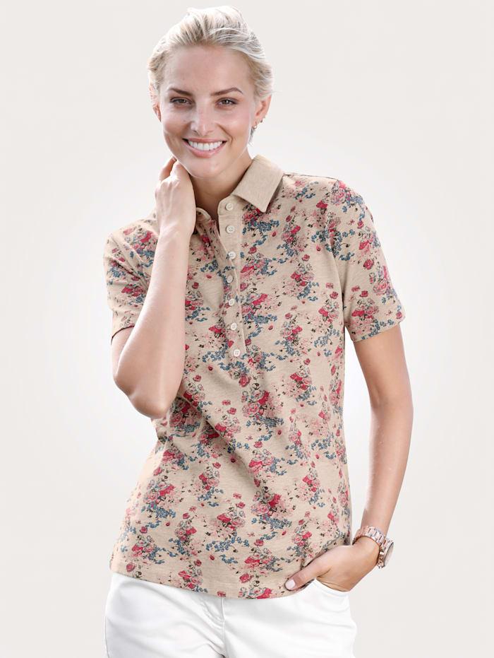 Poloshirt mit Floral-Druck