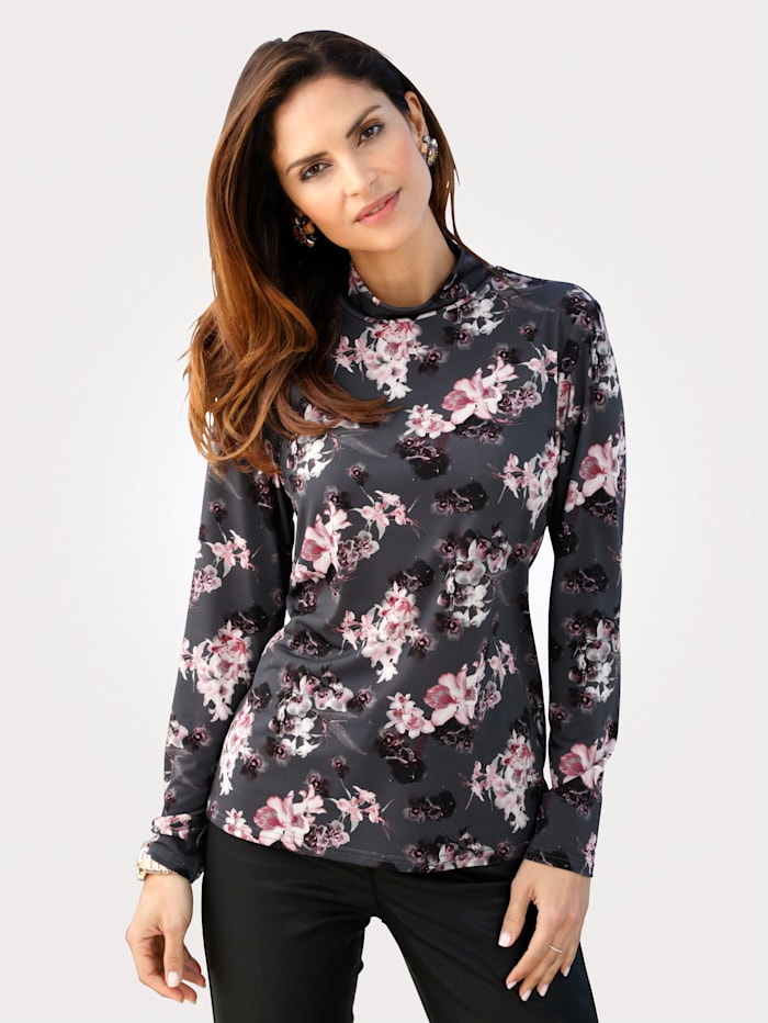 Top with a beautiful floral print