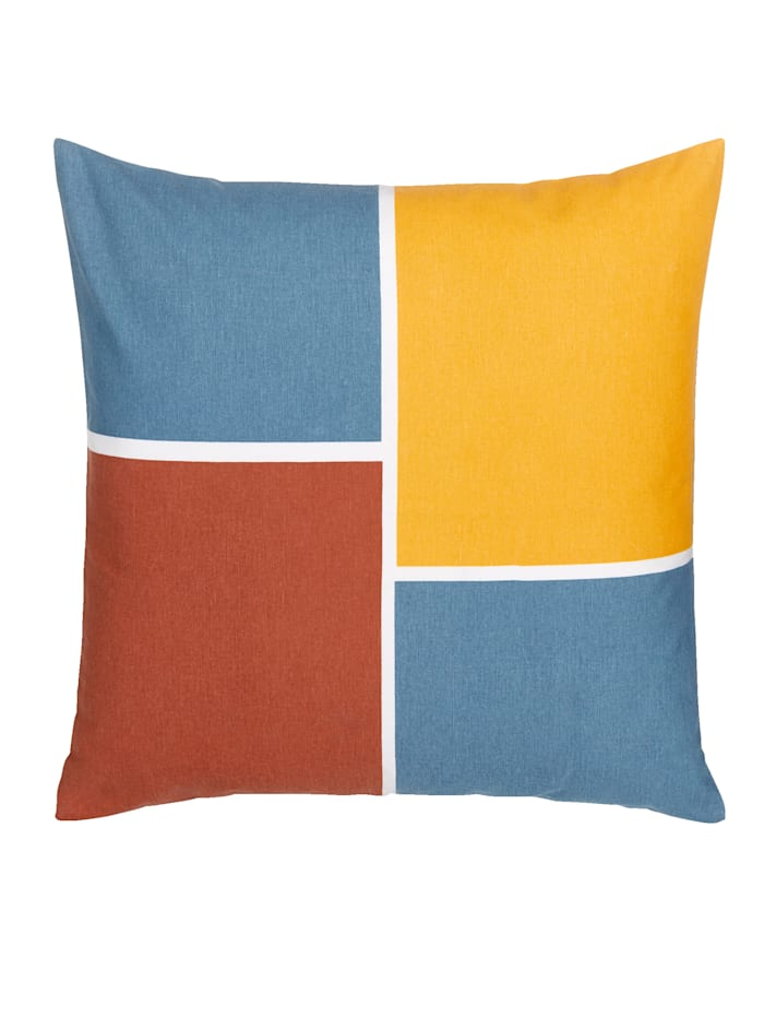 IMPRESSIONEN living Kissenhülle, gelb, blau, rost
