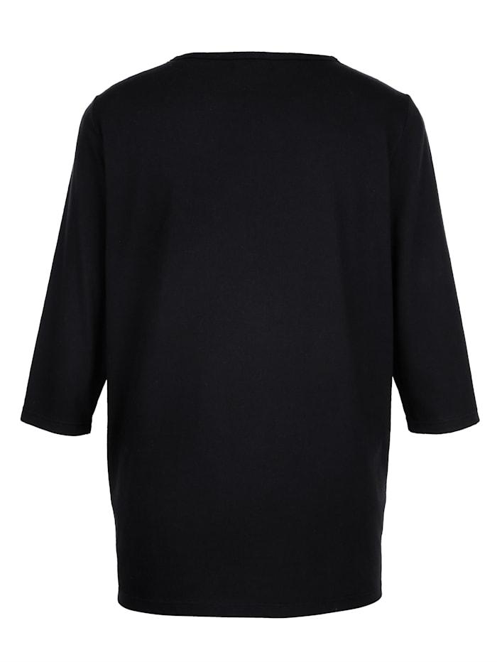 Shirt mit aufwendiger Spitzen-Verarbeitung vorne am Ausschnitt