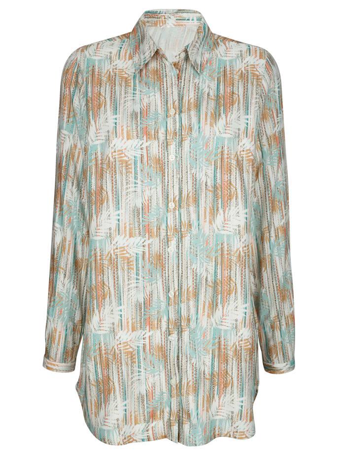 Blus med trendigt mönster