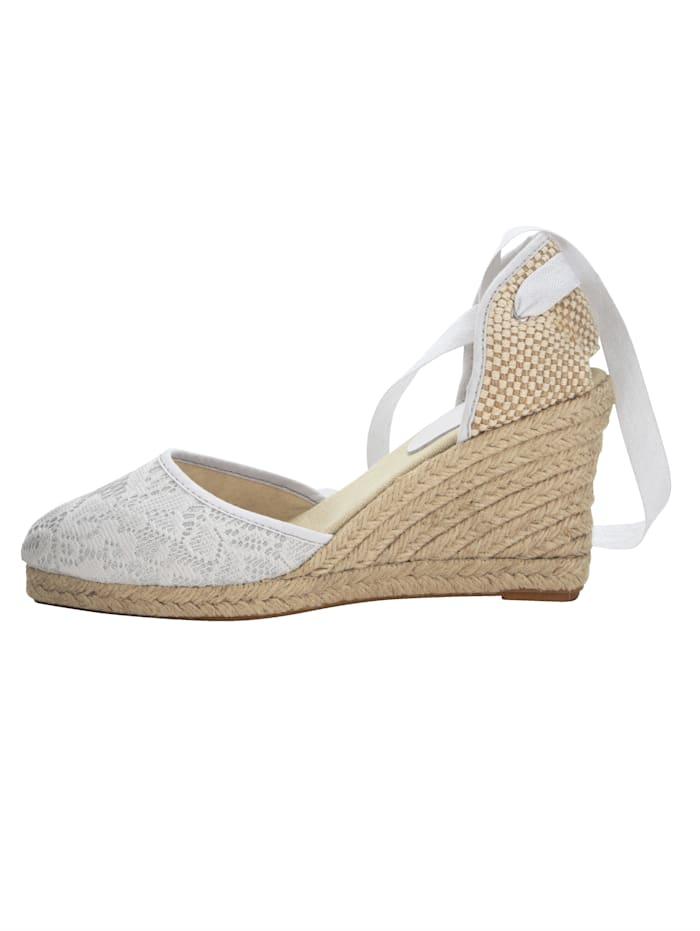 Sandales compensées à motif dentelle très mode