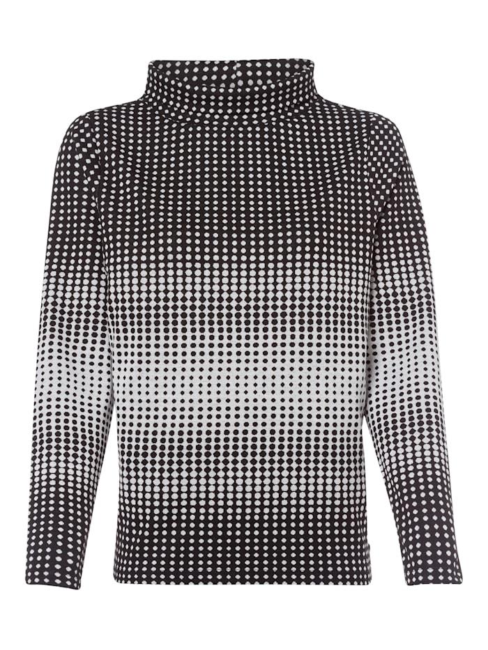 Olsen Sweatshirt im Punktdesign, Black