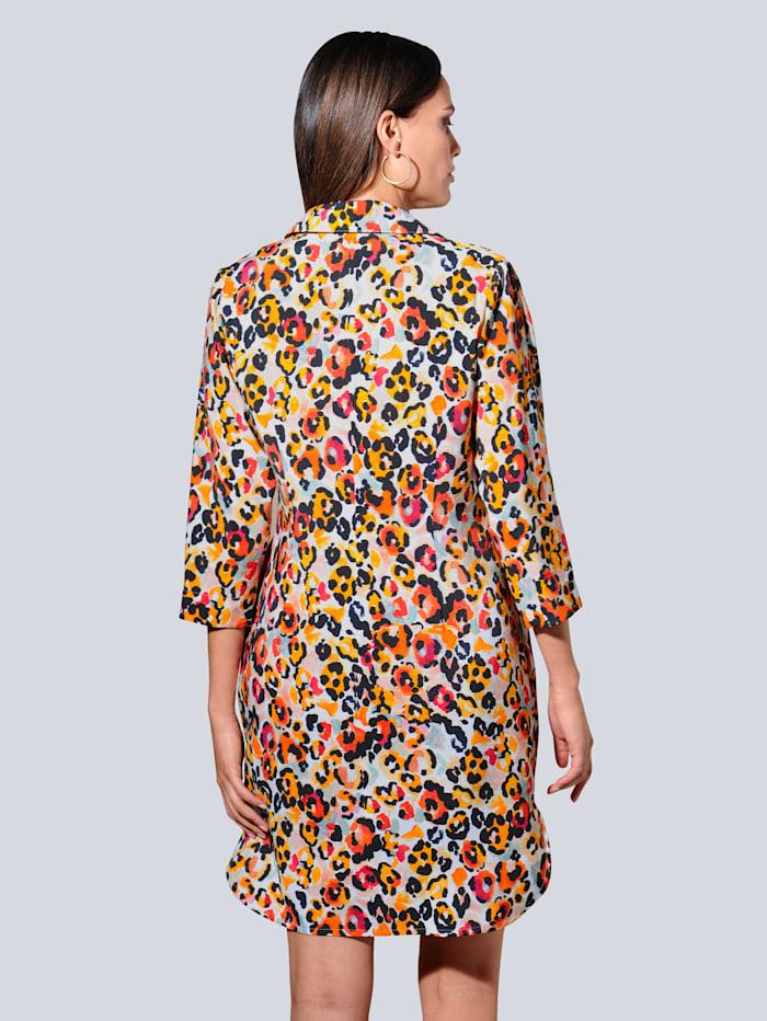 Šaty celoplošne s farebnou potlačou