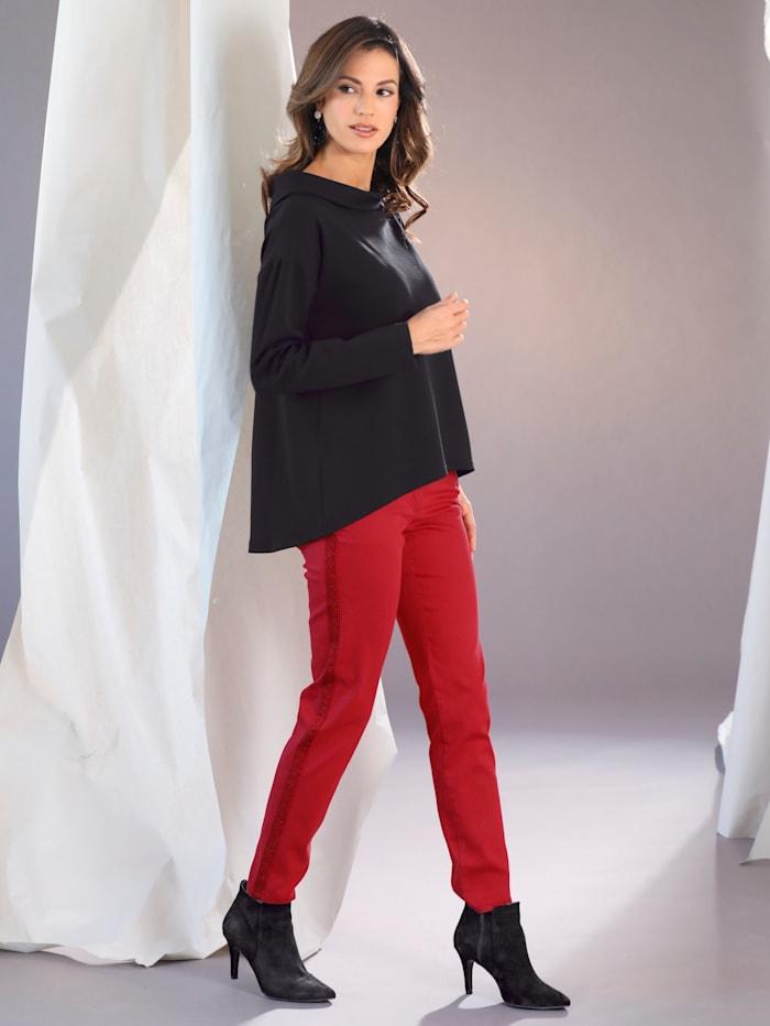 Jeans med glittriga revärer