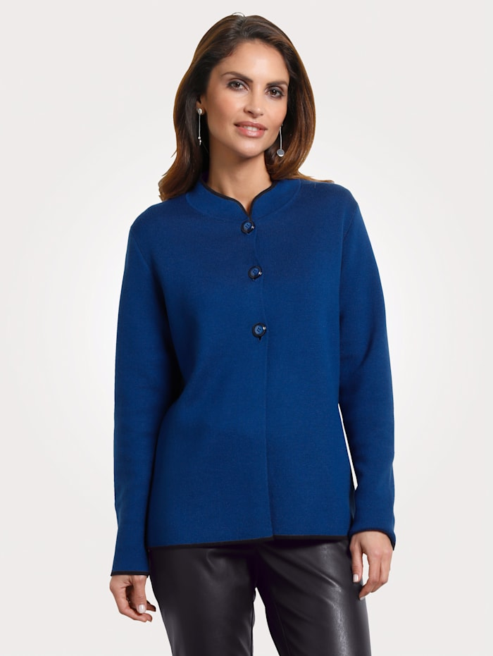 Knitted blazer with contrast detailing