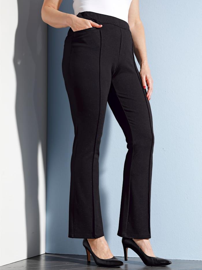 MIAMODA Broek in trendy bootcutmodel, Zwart