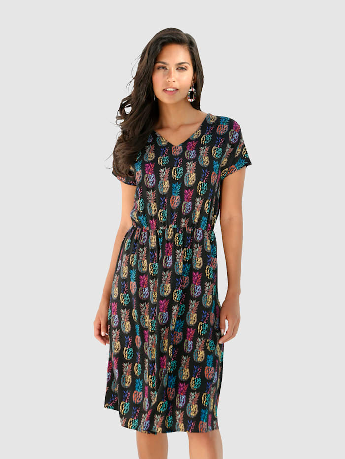 Kleid mit modischem Ananasdruck