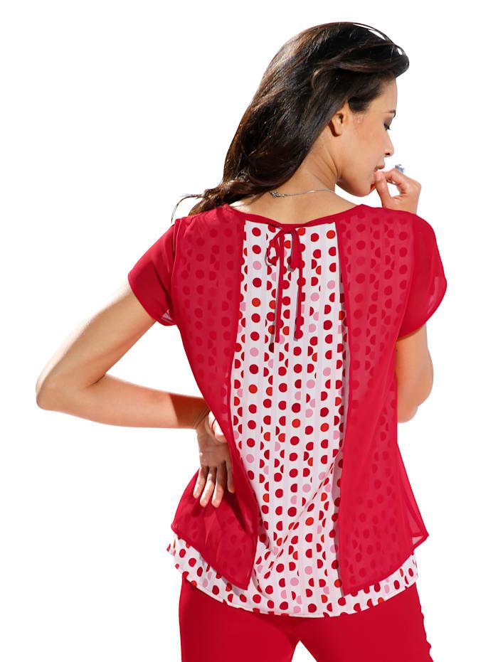 Bluse in 2-Lagen-Look