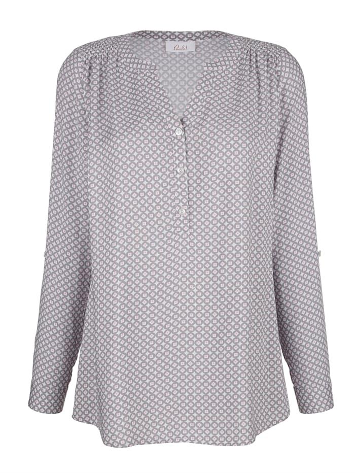 Bluse med print