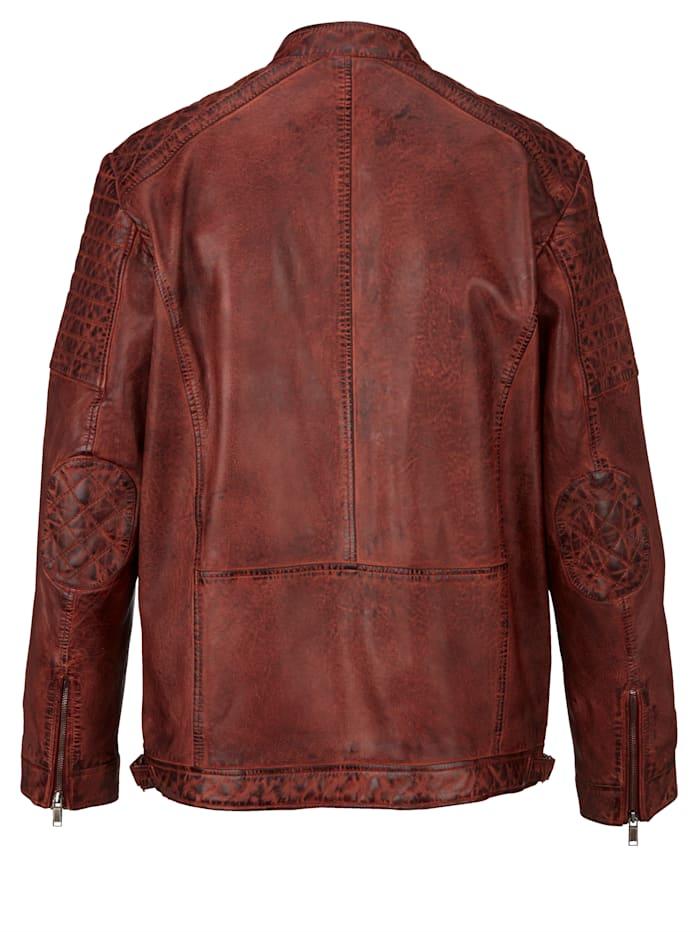Kožená bunda z farbenej jahňacej nappa kože